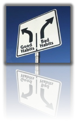 Good Habit Bad Habit road sign